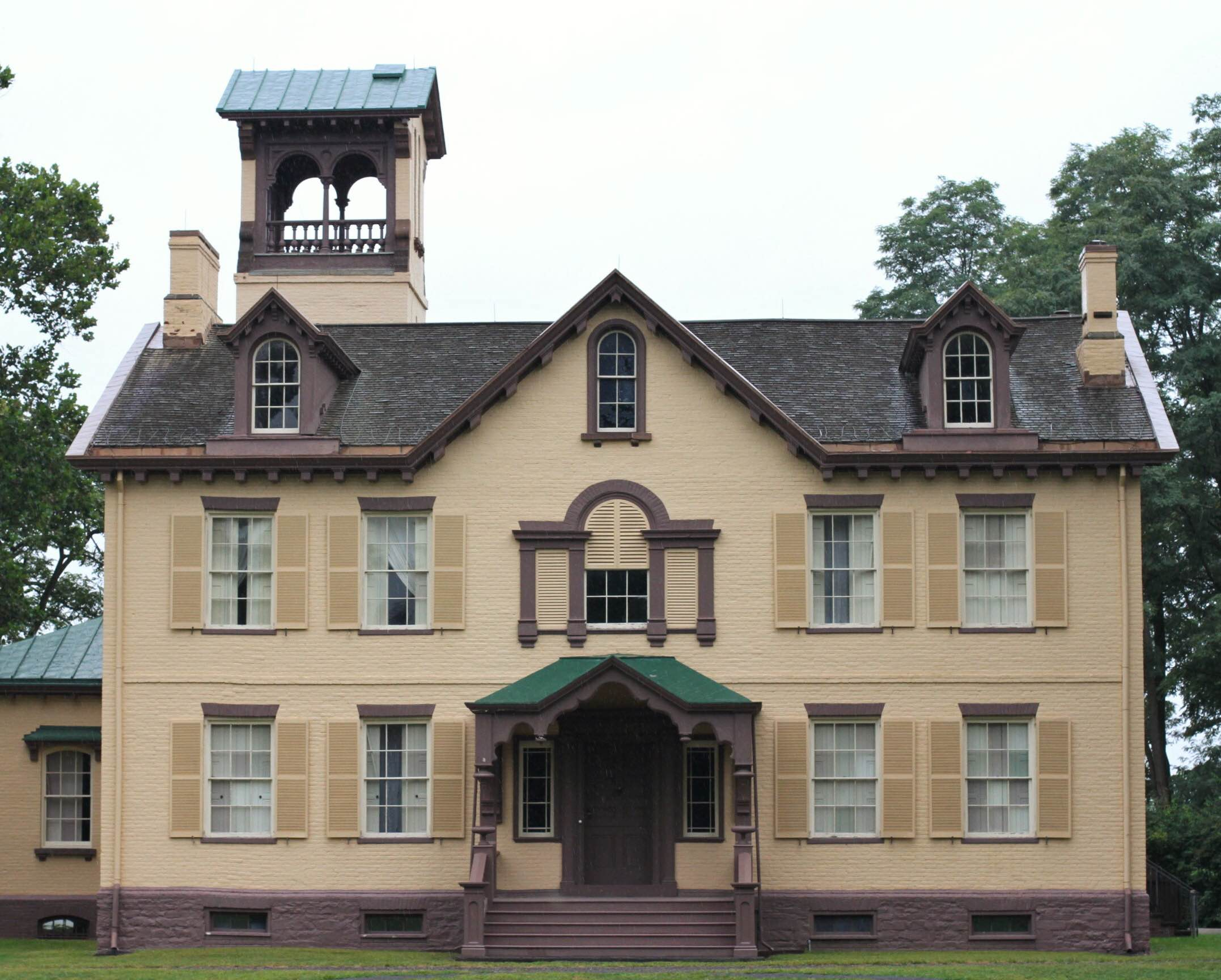 Lindenwald, a 36 room mansion purchased by Van Buren in 1839 during his term as President.
