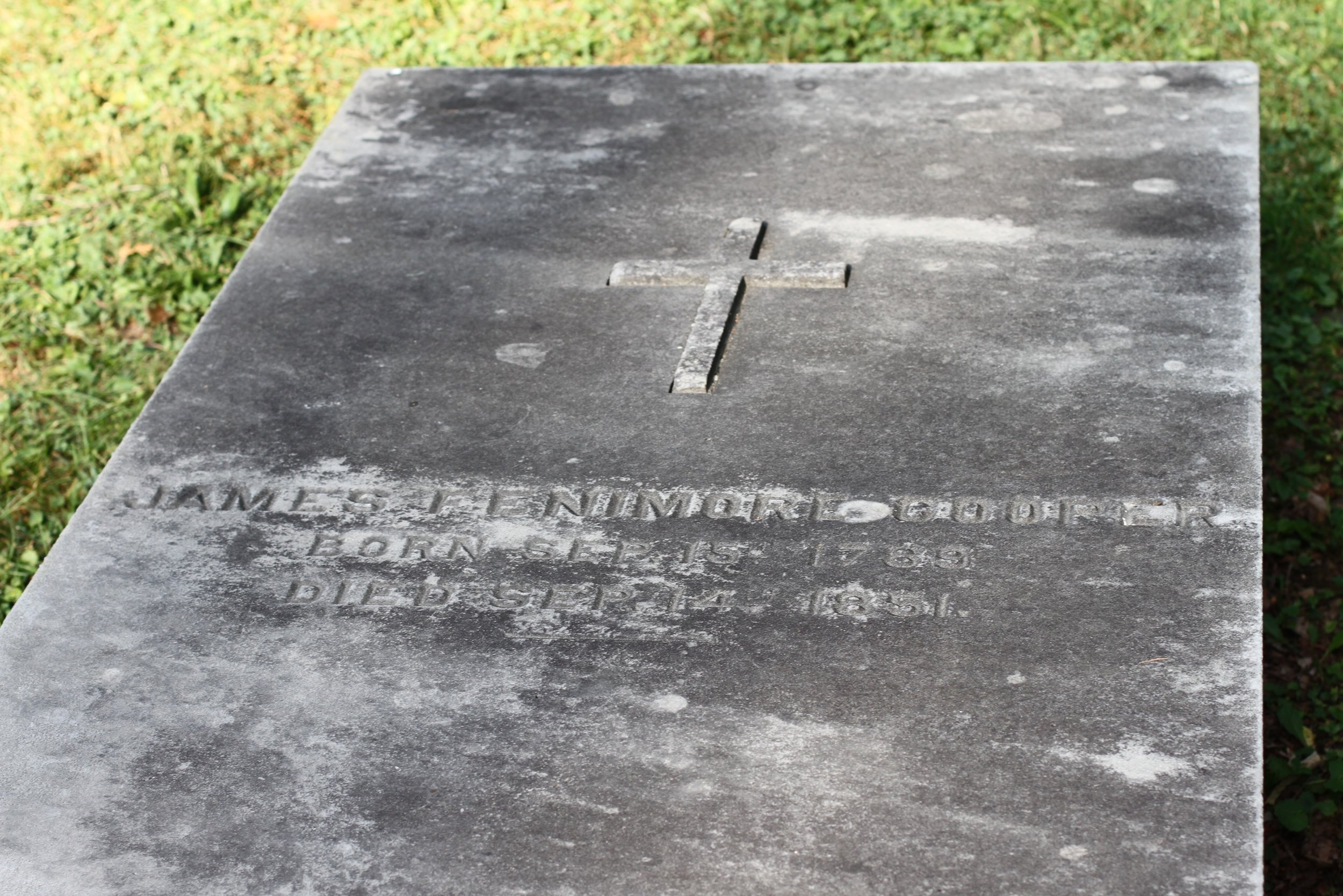 James Fenimore Cooper's grave.