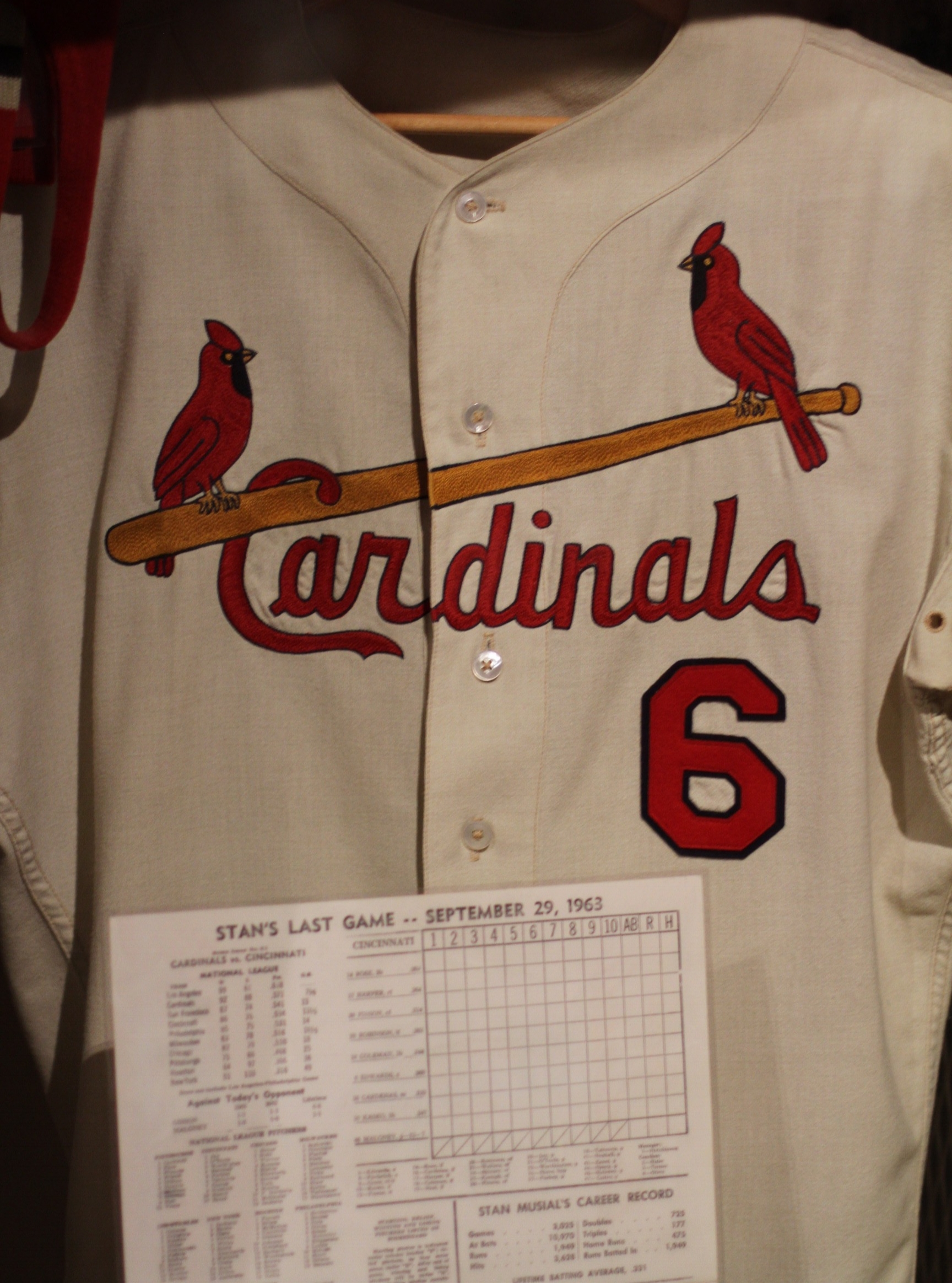 Stan Musial's jersey.