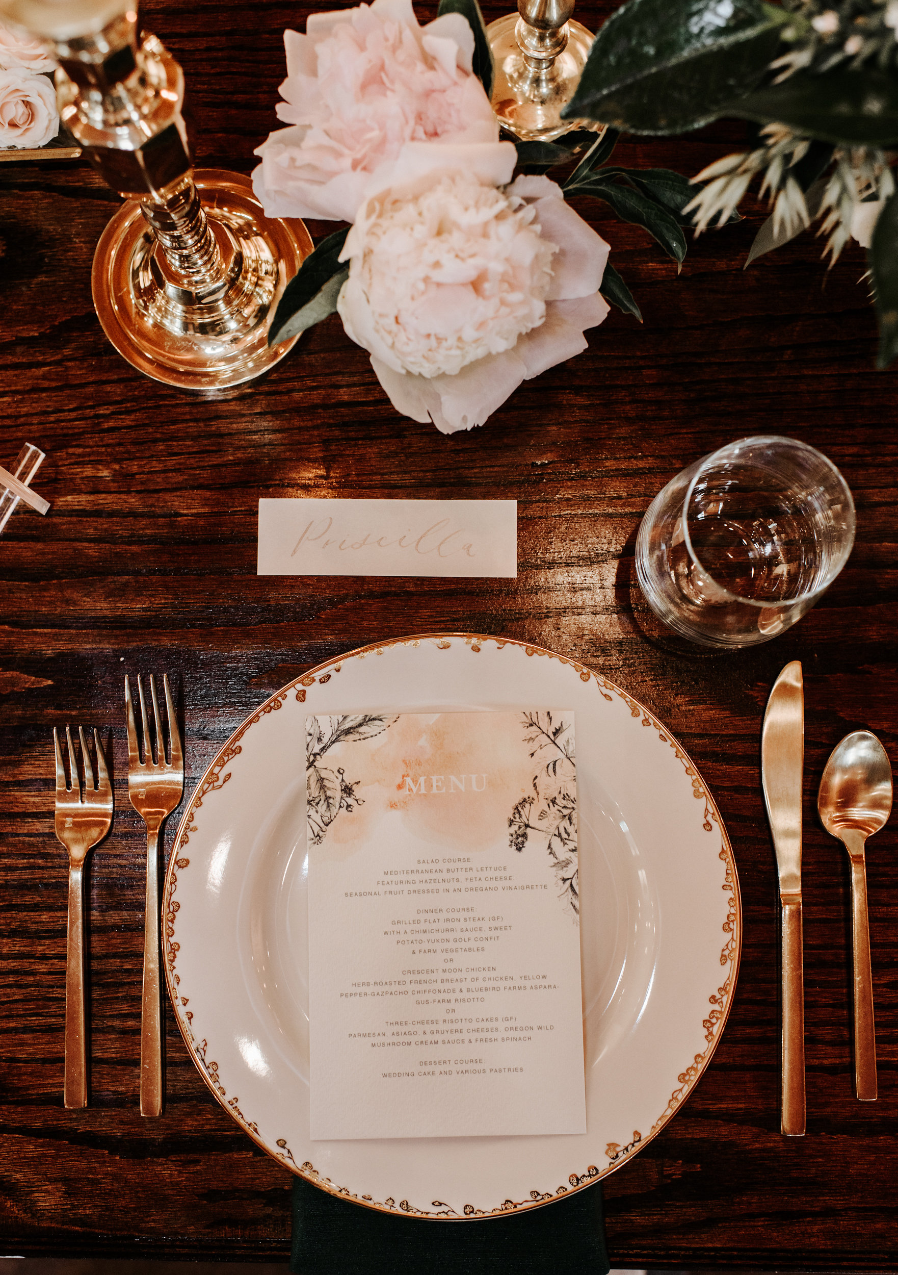 Copy of Copy of Elegant Wedding Table setting
