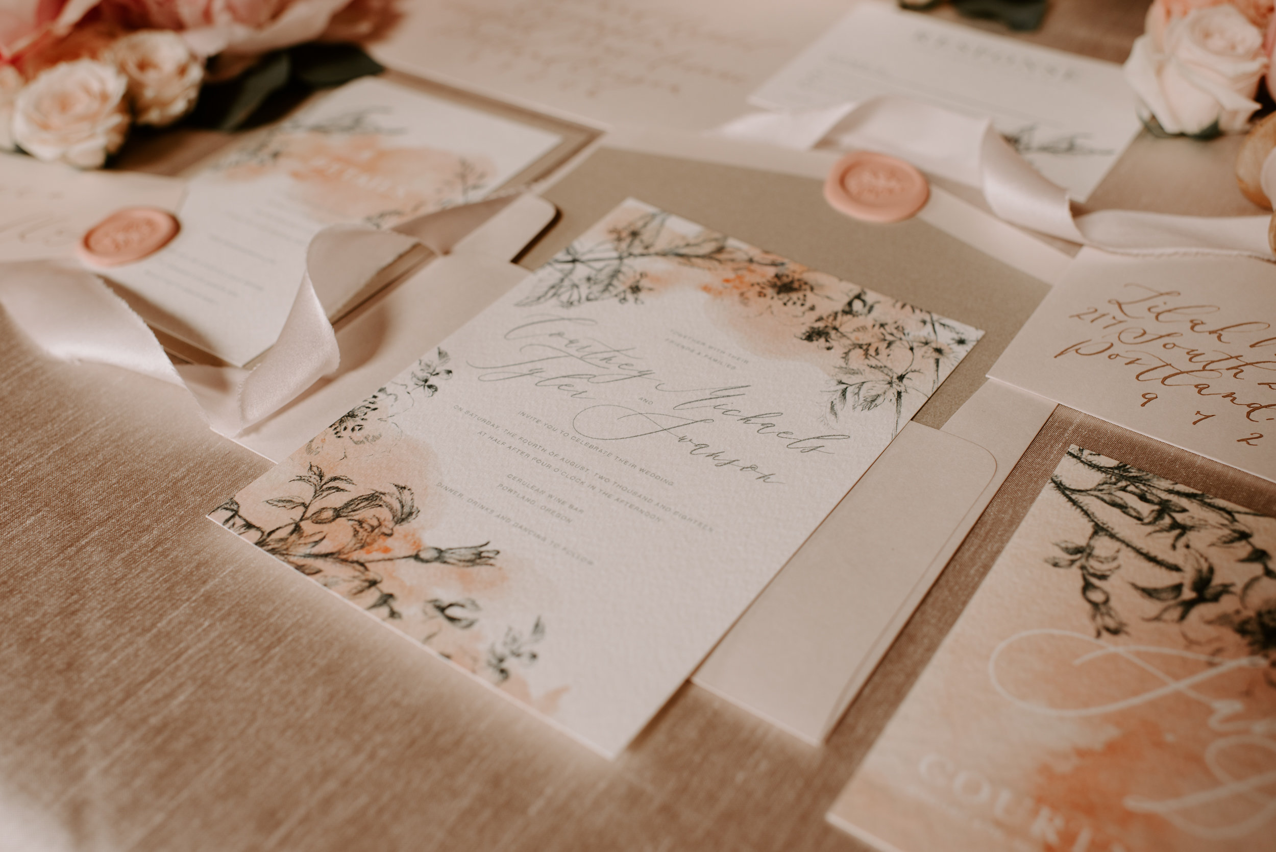 Copy of Copy of Wedding Invitations: Stationary: Letters & Dust