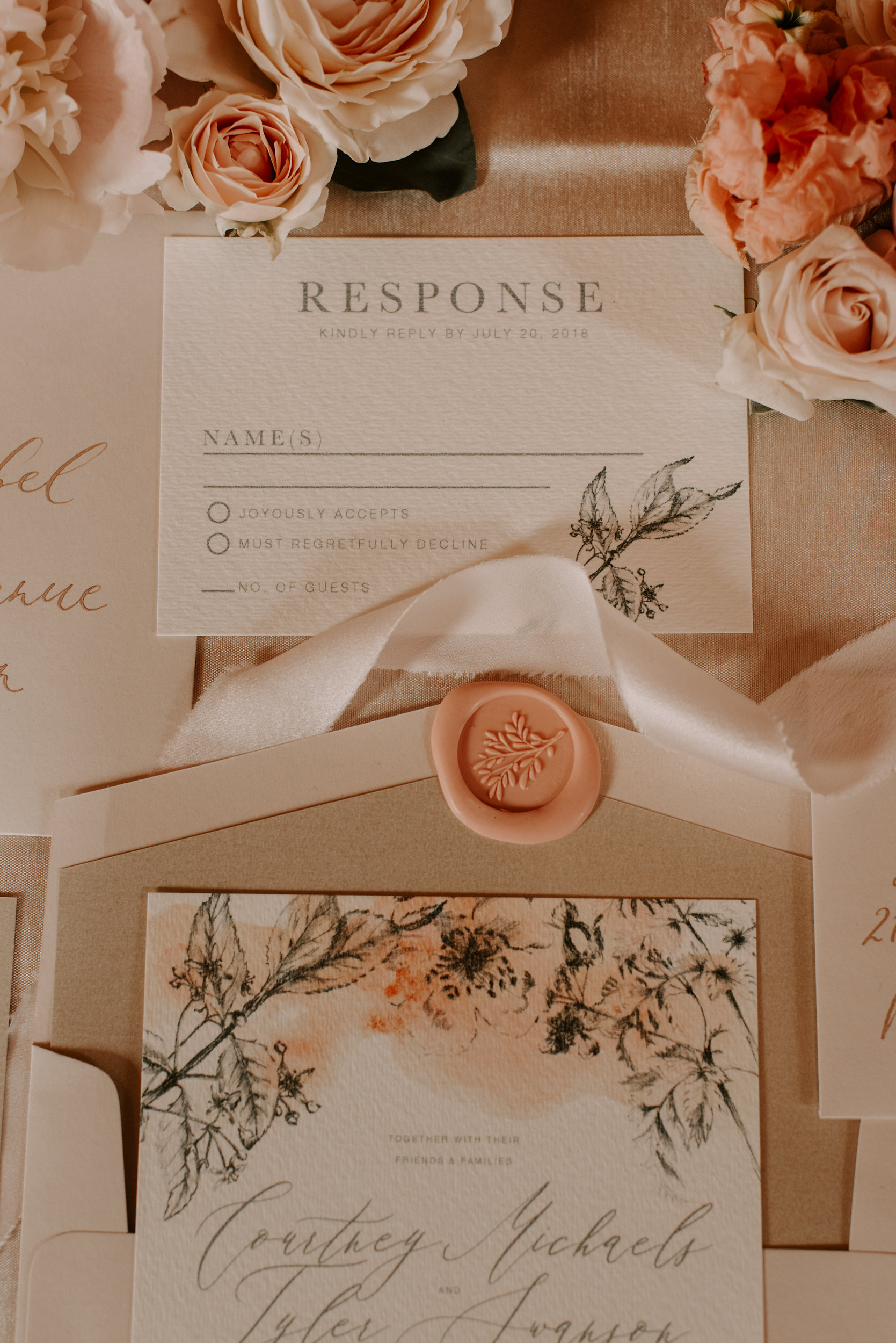 Copy of Copy of Wedding Stationary: Details, Letters & Dust