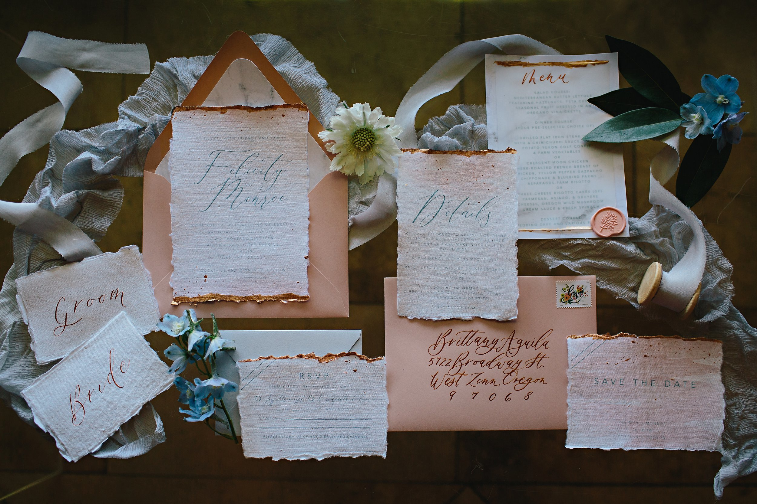 Copy of Summer Garden Wedding: Stationary by Letters & Dust