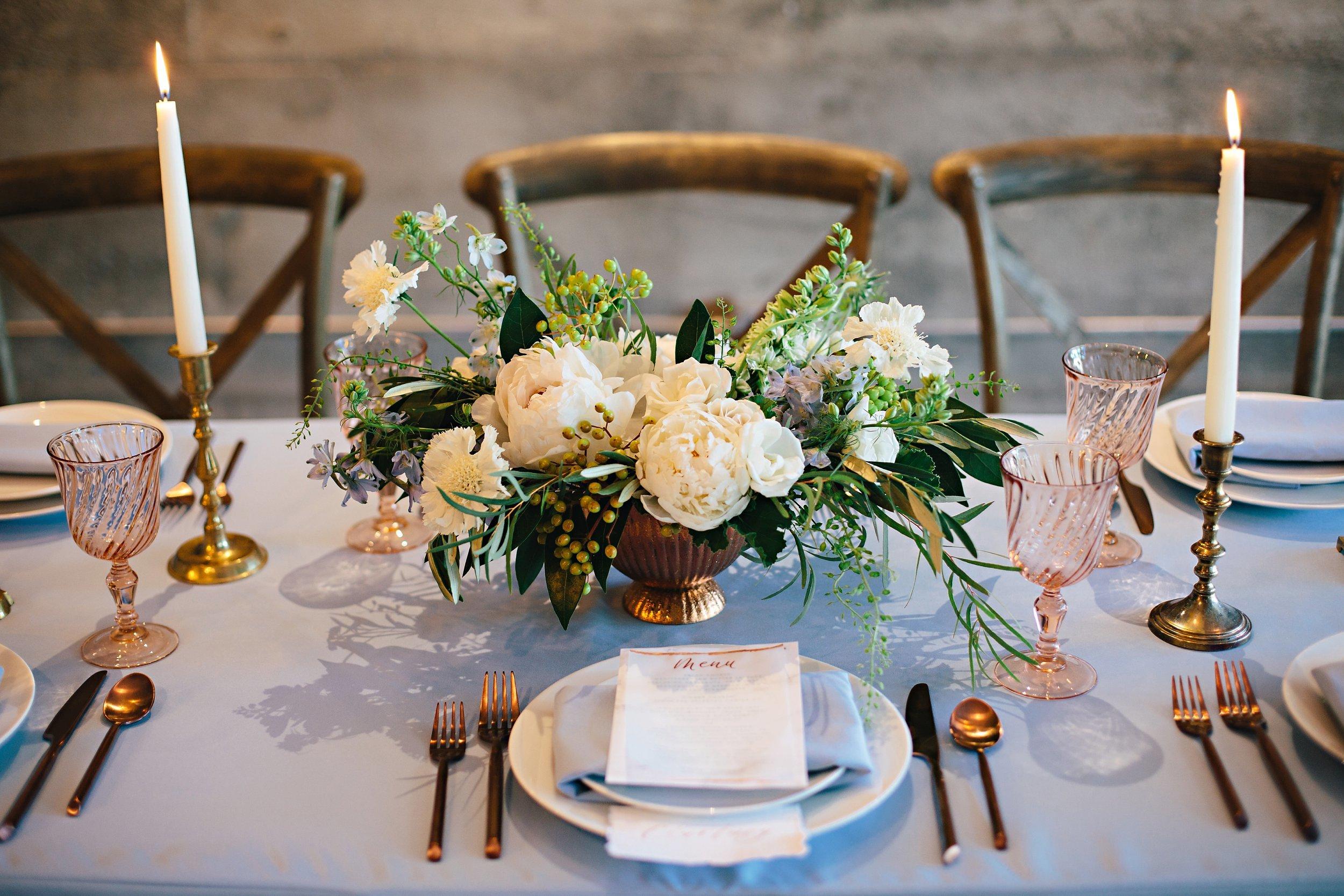 Copy of Summer Garden Wedding: Tabletop floral