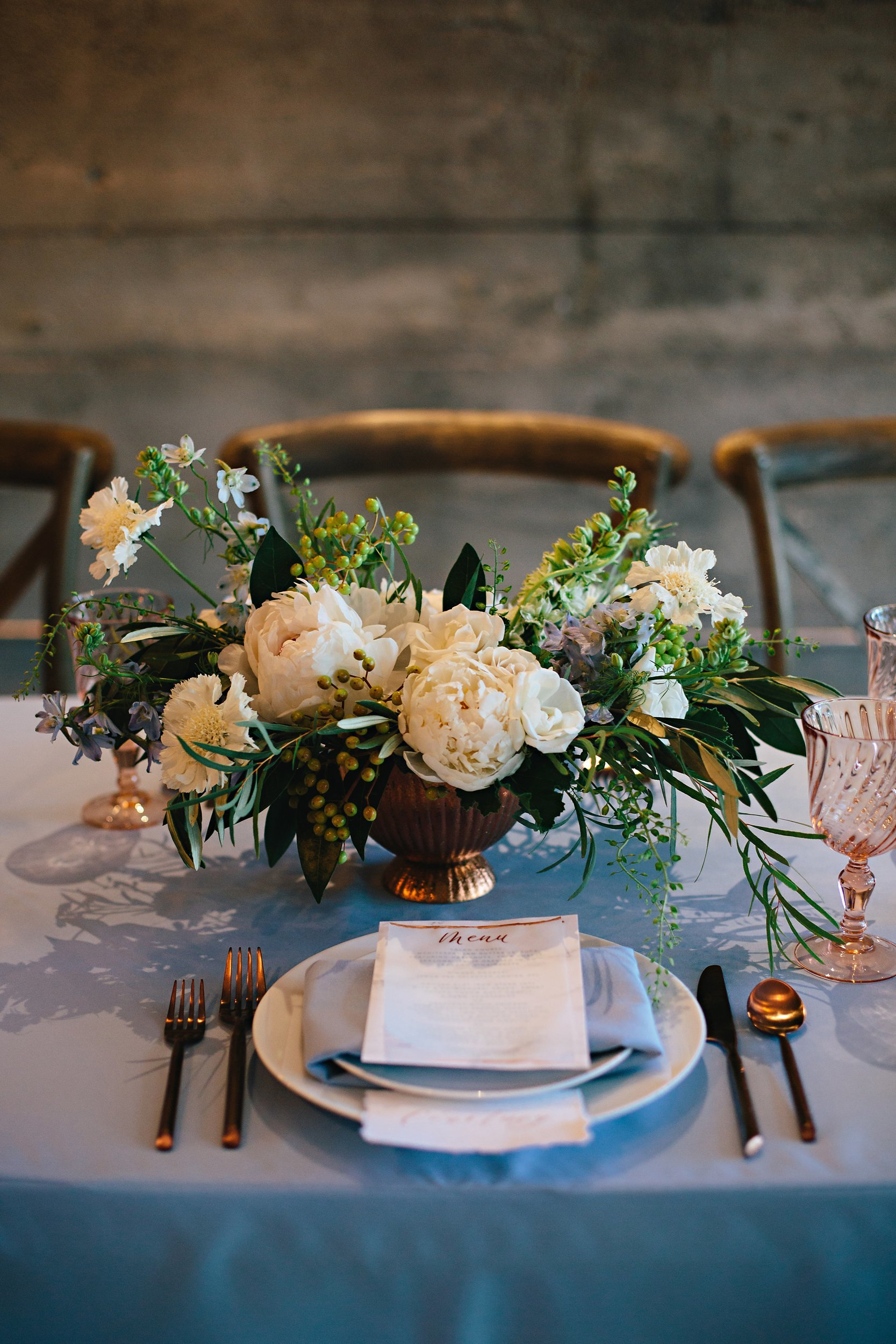 Copy of Summer Garden Wedding: Tabletop details: Place setting
