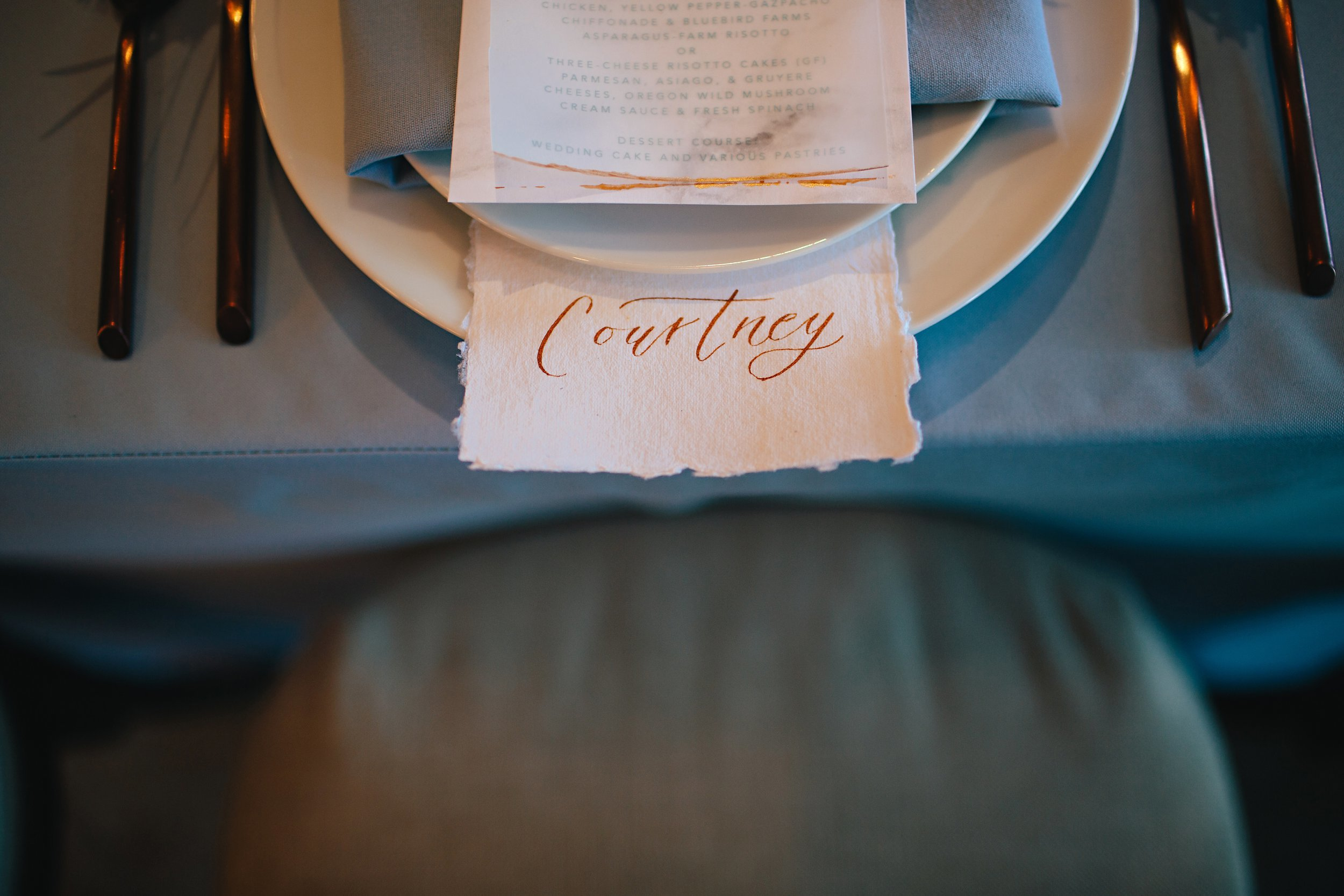 Copy of Summer Garden Wedding: Tabletop details: Place cards