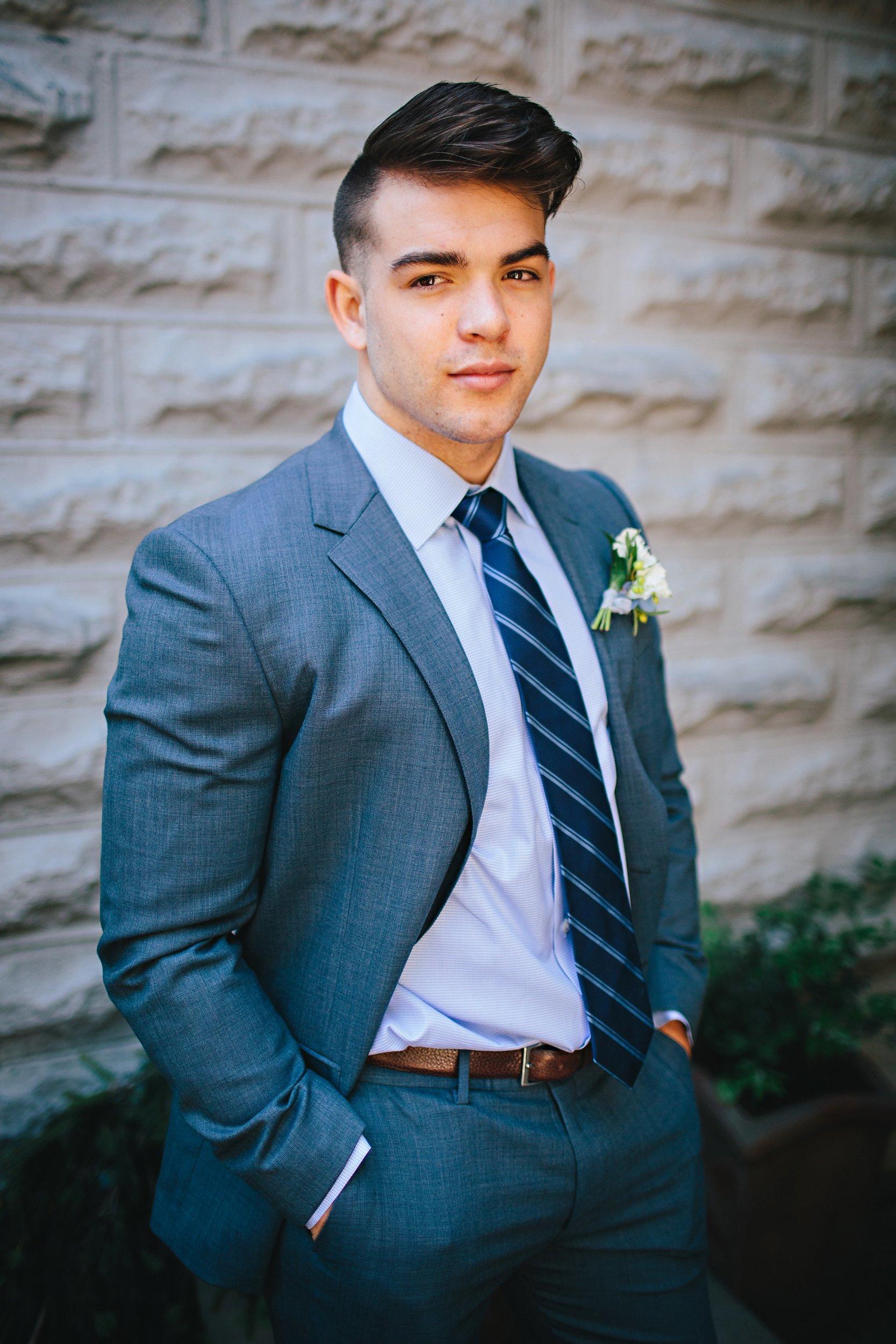 Copy of Summer Garden Wedding: Groom Portrait