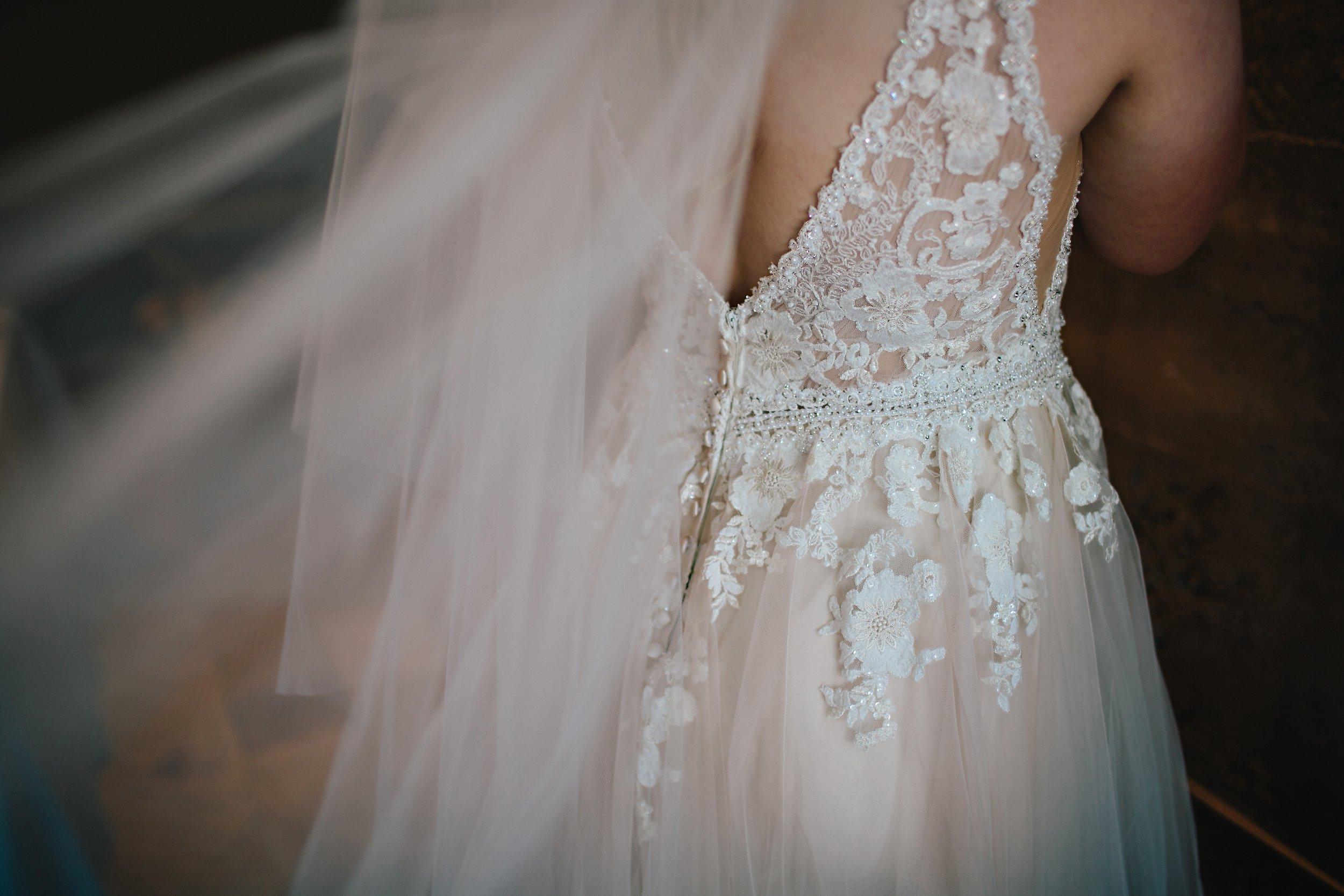 Copy of Summer Garden Wedding: Wedding Dress Details