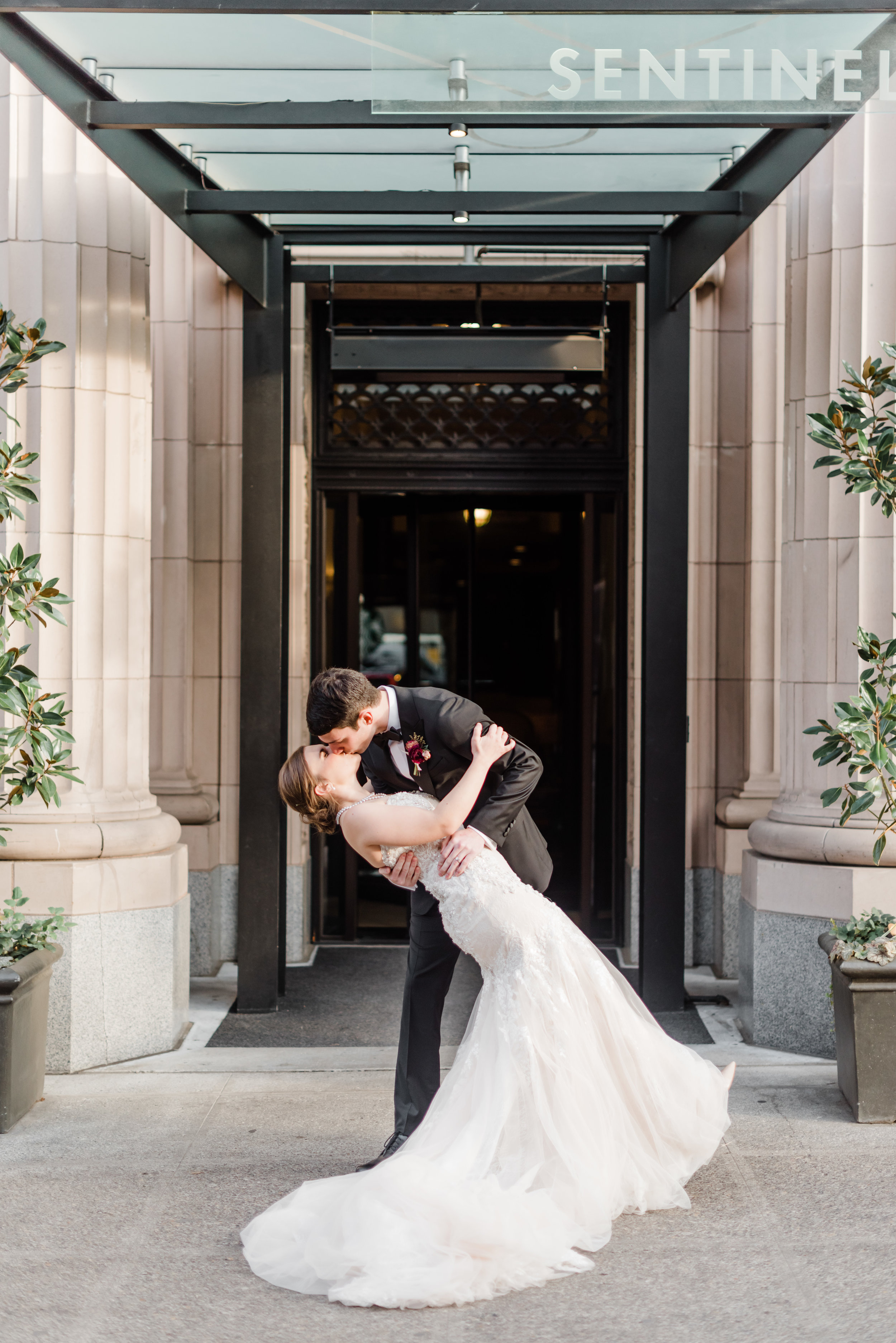 Wedding portrait at Sentinel Hotel