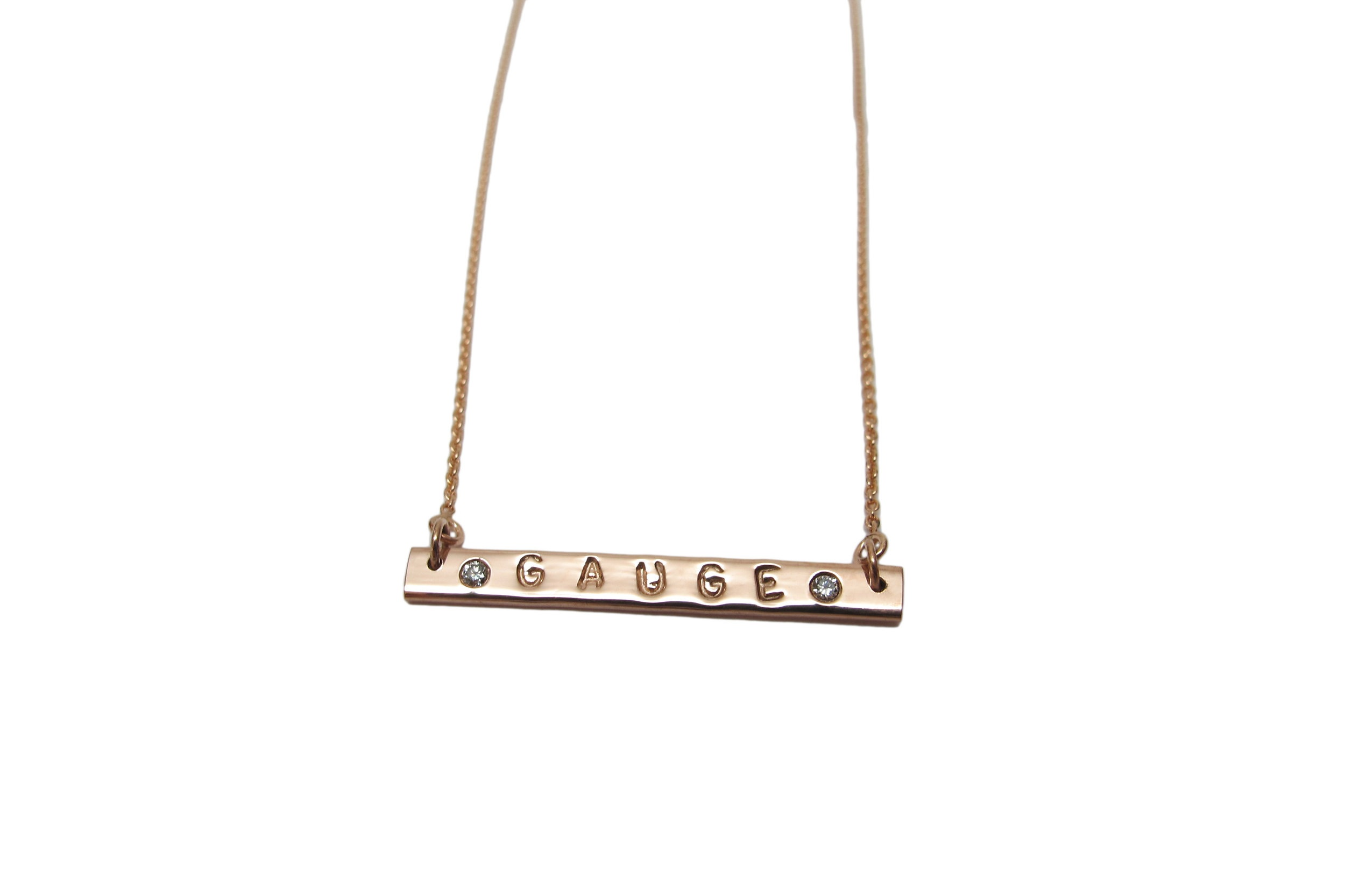 ROSE GOLD NAME NECKLACE + DIAMONDS