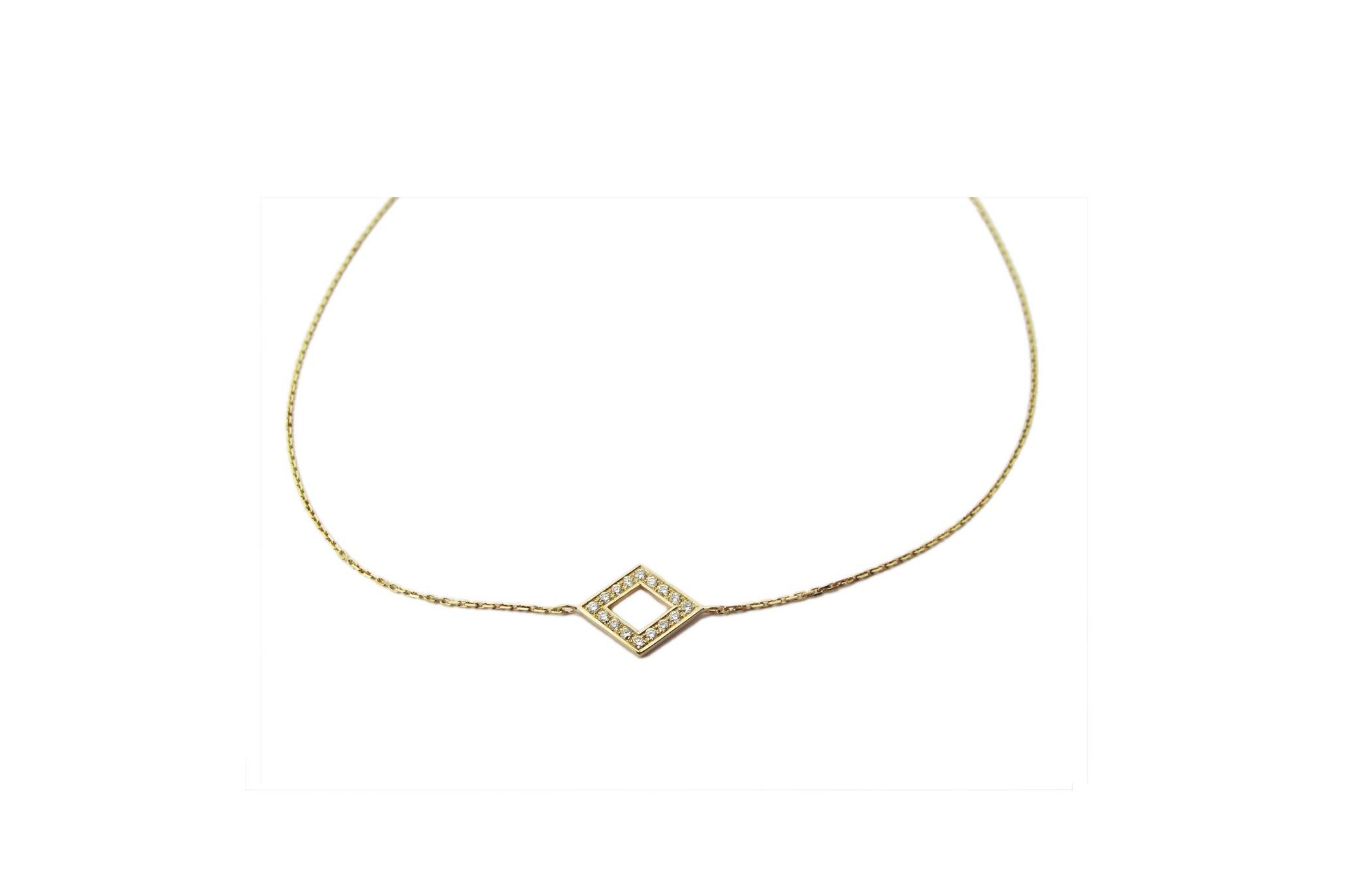 MICRO PAVE + GOLD DIAMOND NECKLACE