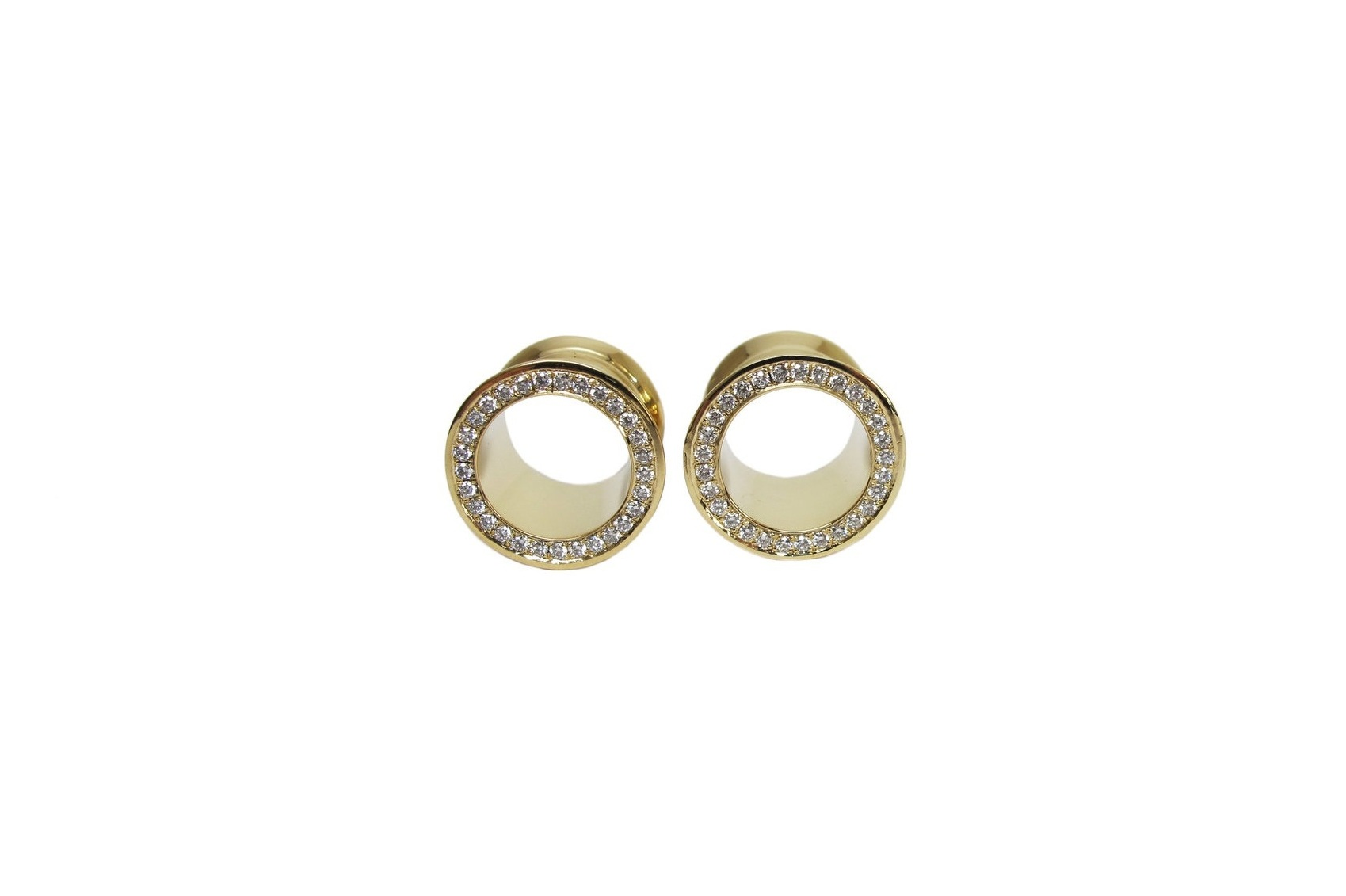 18K GOLD + MICRO PAVÉ DIAMOND EYELETS
