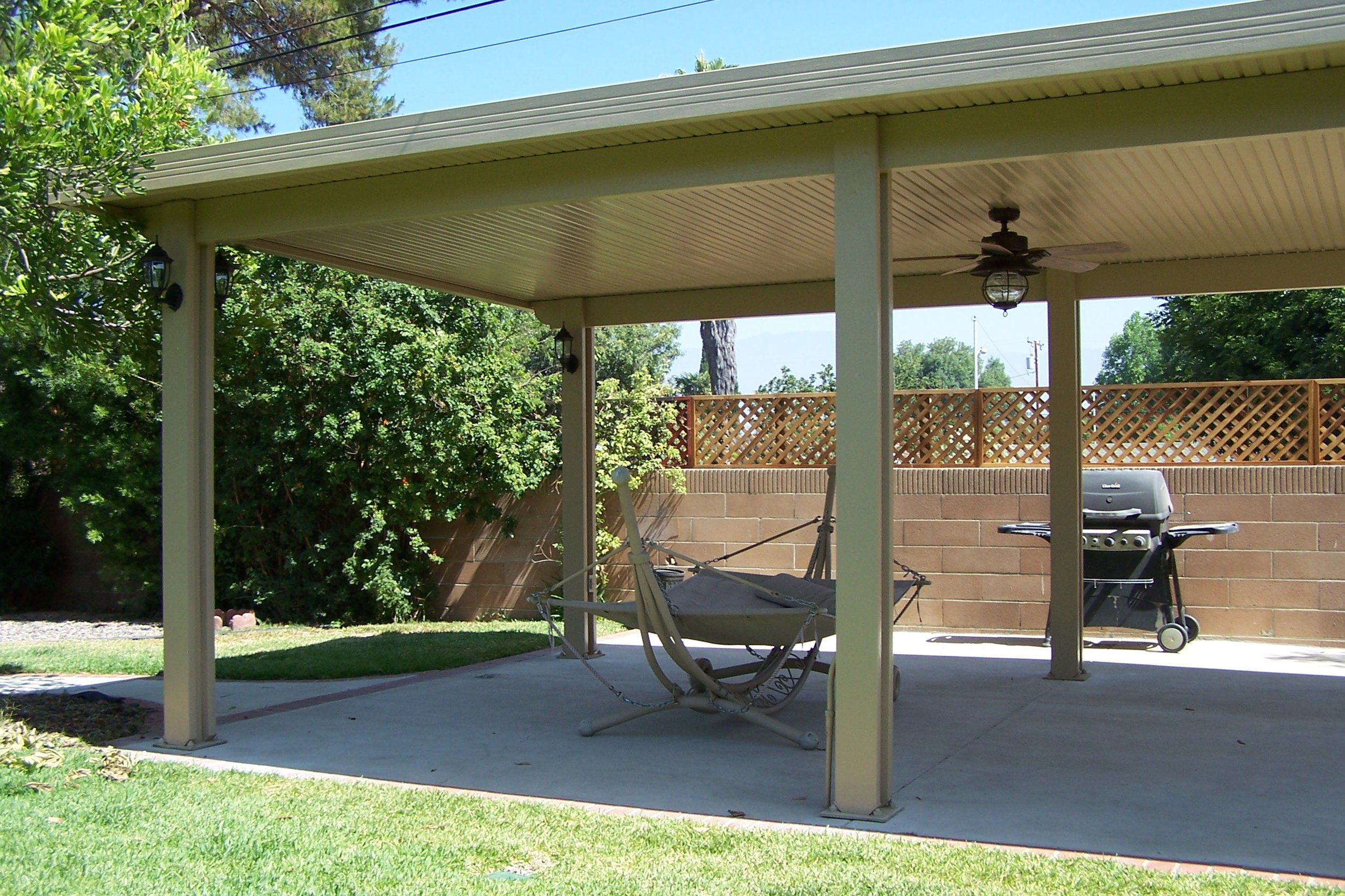 A great way to turn an unusable patio into a shaded space to relax. It will also shade windows and doors making those rooms more comfortable. Also helps to lower patio temperatures an average of 20 degrees.