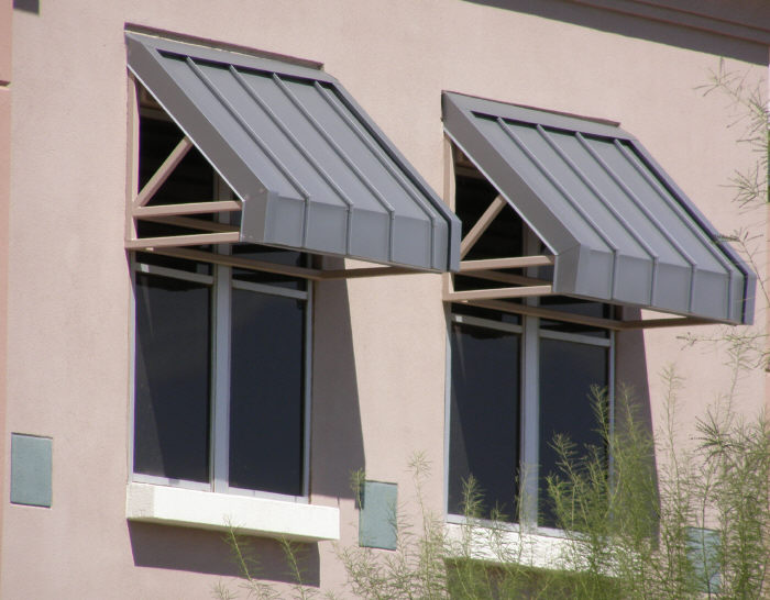 Awnings are a simple way of cooling your home by shading your windows to control heat and deflect sun rays. They also lower inside temps by an average of 12 degrees which helps lessen the load on your A/C which in-turn will help lengthen it's life.
