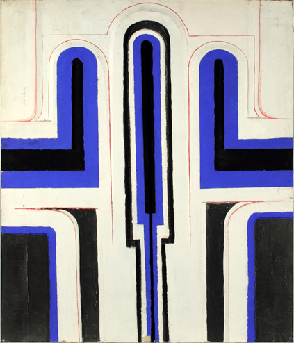 TRIPTYCH - BLUE & WHITE