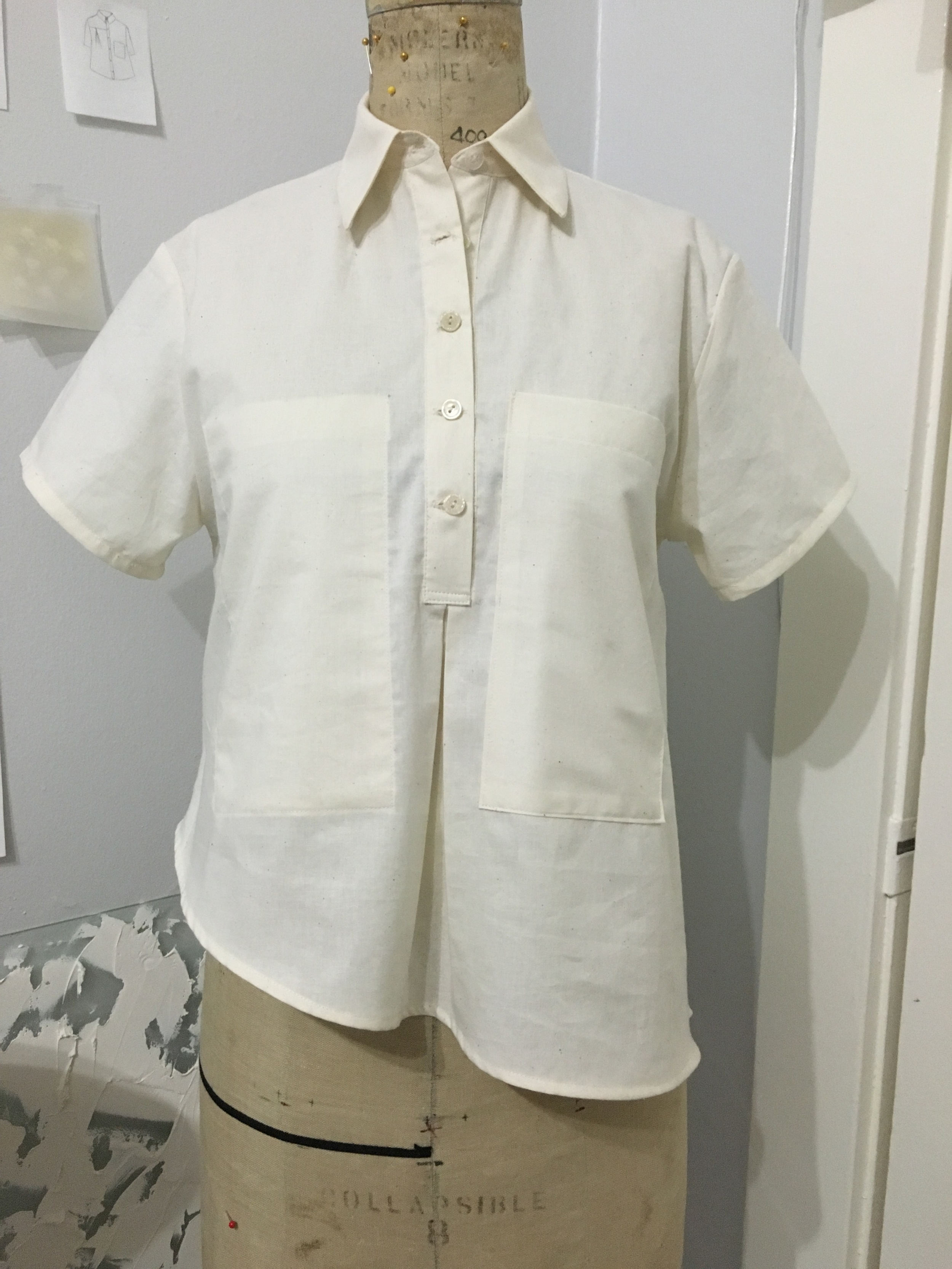 working on the perfect button up shirt