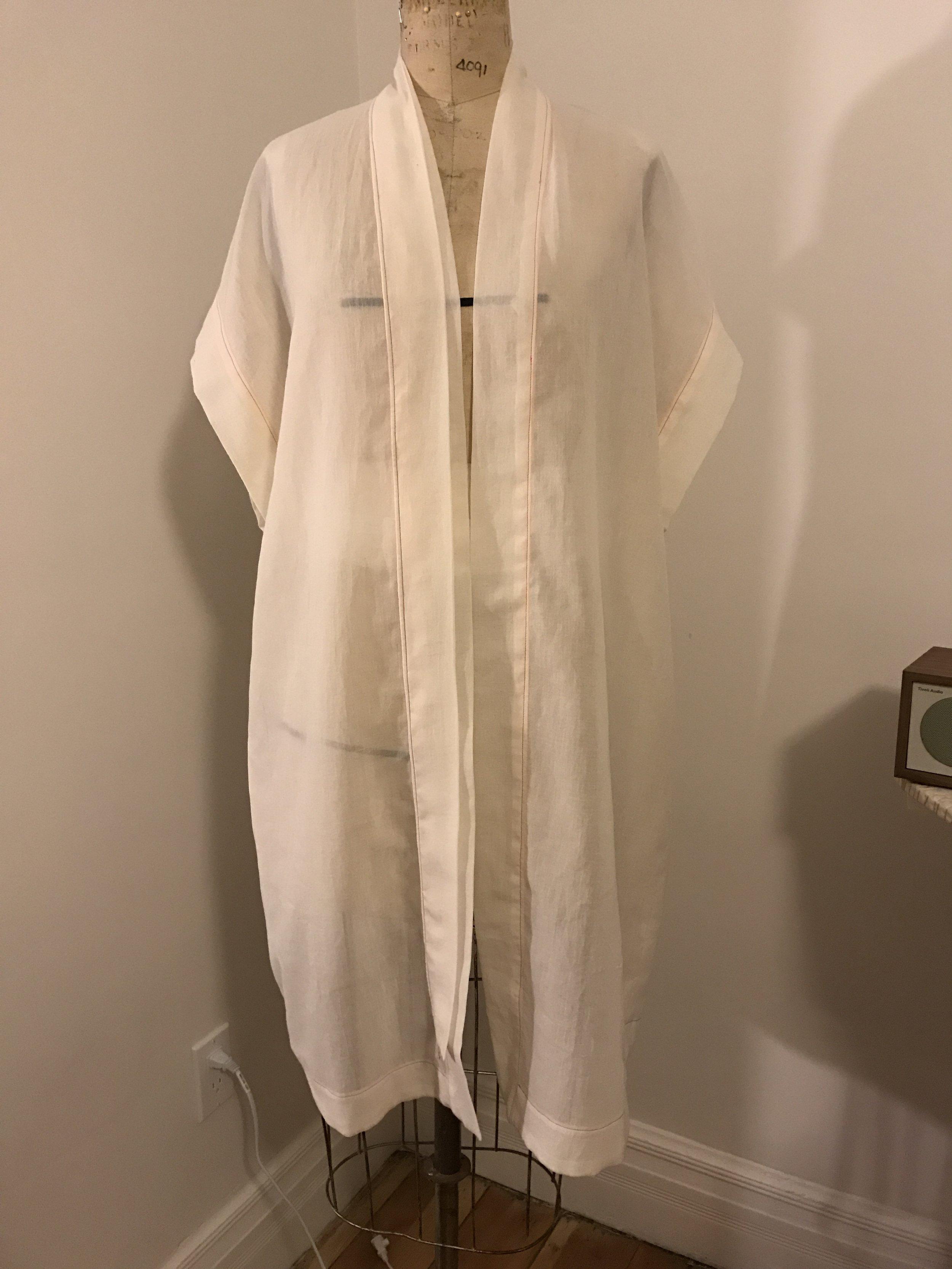 A kimono test proto: pattern drafting and garment construction