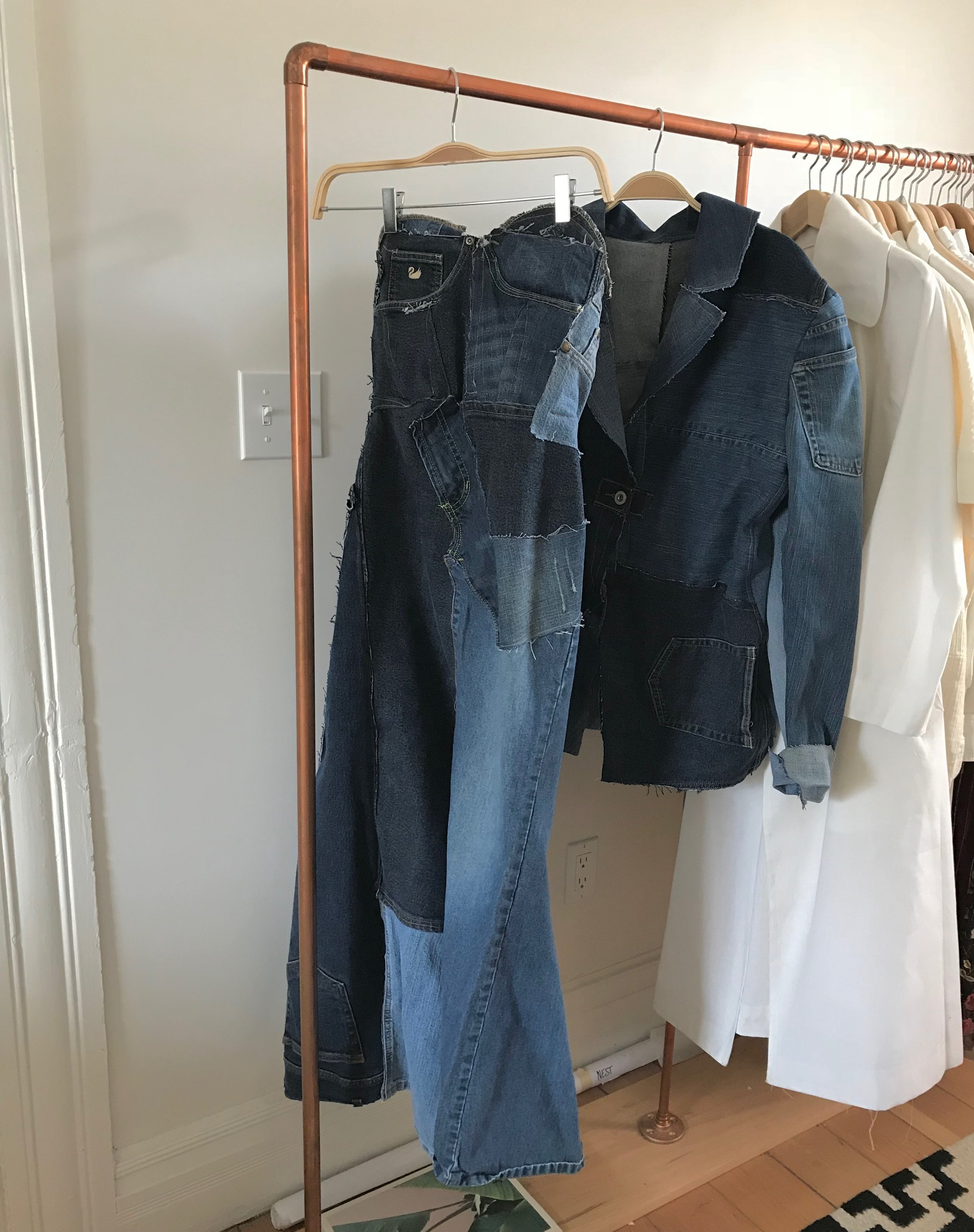 Up-cycling denim project (inspired by Britney and Justin of course)