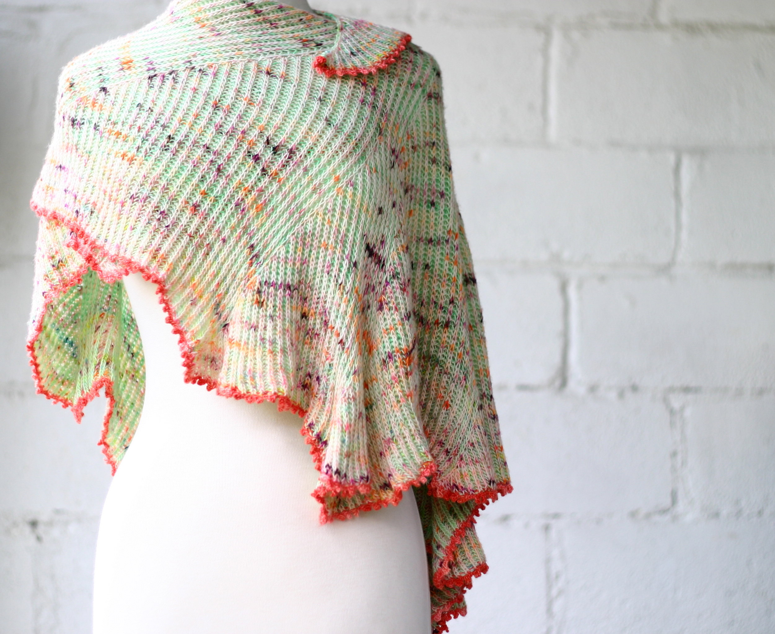 Just uploaded my  Sprouting Brioche Shawl pattern to Ravelry.com . I'll be hosting a few classes on this project in the fall so keep your eyes out for upcoming dates!
