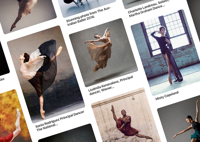 1 >  The CONSULTATION - I work with you to design your perfect photoshoot, from hair & makeup to costumes & poses. I love to collaborate with the dancer by collecting favorite images on a Pinterest Board.