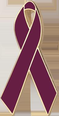 Burgundy Awareness Ribbon Pin