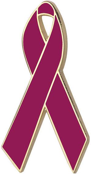 Cranberry Awareness Ribbon Pin