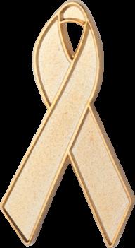 Gold Awareness Ribbon Pin