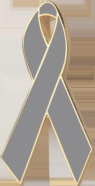 Gray Awareness Ribbon Pin
