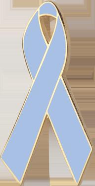 Light Blue Awareness Ribbon Pin