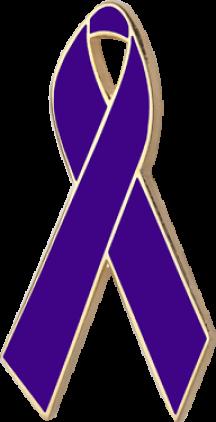 Violet Awareness Ribbon Pin