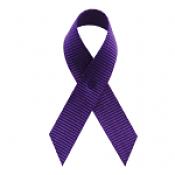 Violet Fabric Awareness Ribbons