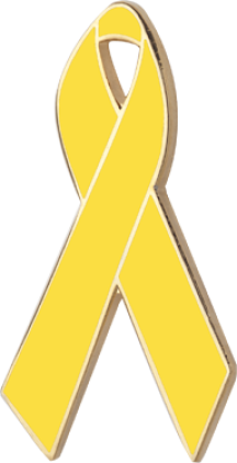 Yellow Fabric Ribbon Pin