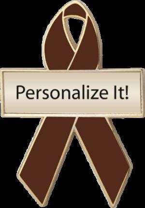 Brown Awareness Ribbon Pins 1 Brown Awareness Lapel Pins Prime