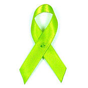 Lime Green Fabric Awareness Ribbons