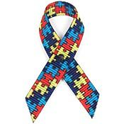 Puzzle Pieces Fabric Awareness Ribbons