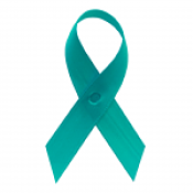 Sea Green Fabric Awareness Ribbons