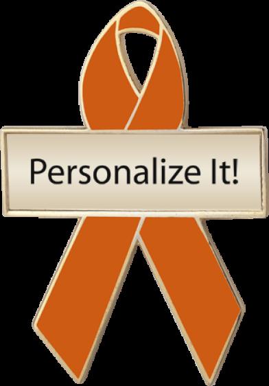 Personalized Amber Awareness Ribbon Pin