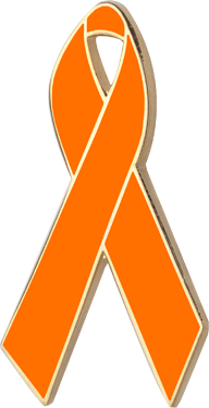 Orange Awareness Ribbon Pin