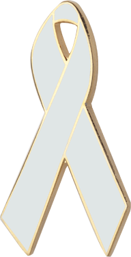 Pearl Awareness Ribbon Pin
