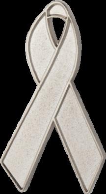 Silver Awareness Ribbon Pin
