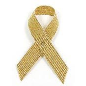 Gold Fabric Awareness Ribbons