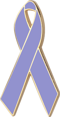 Lavender Awareness Ribbon Pin