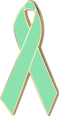 Light Green Awareness Ribbon Pin