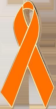 Orange Awareness Ribbon Pin