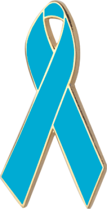 Teal Awareness Ribbon Pin