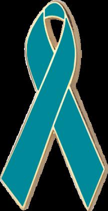 Turquoise Awareness Ribbon Pin