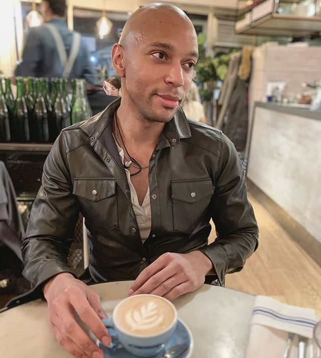 Not sure how I've gotten in the habit of posting more portraits this past month, but it's hard not to when iPhones take such stunning shots. Also managed to get a lovely latte in the mix - so yeah, content magic. @bluestonelanecoffee 👦🏽☕ | #Ⲭ . . . 📸 - @jreef27