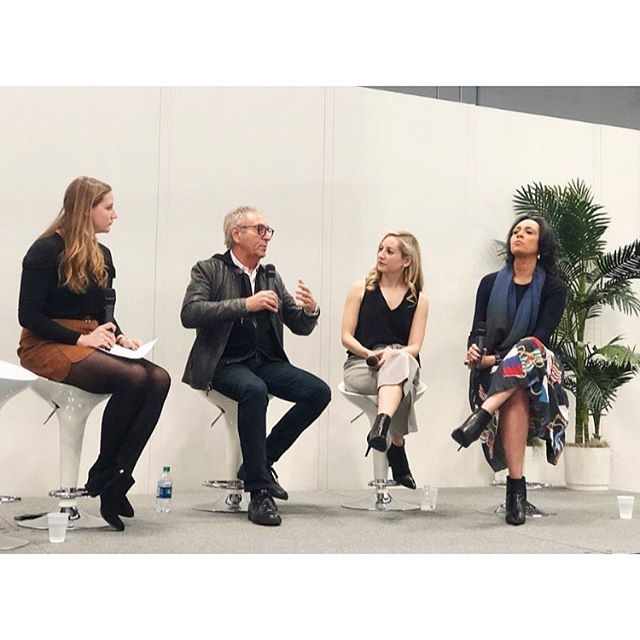 A #throwback to my panel discussion at @ny_now alongside industry experts @ronrobinson & @lladro with @hadleykeller. We chatted about creating lifestyle environments for #realestate (my work with @hudsonwoodsny), inspiration experiences for retail stores, and more. I loved being a part of this lively and dynamic conversation! 🖤