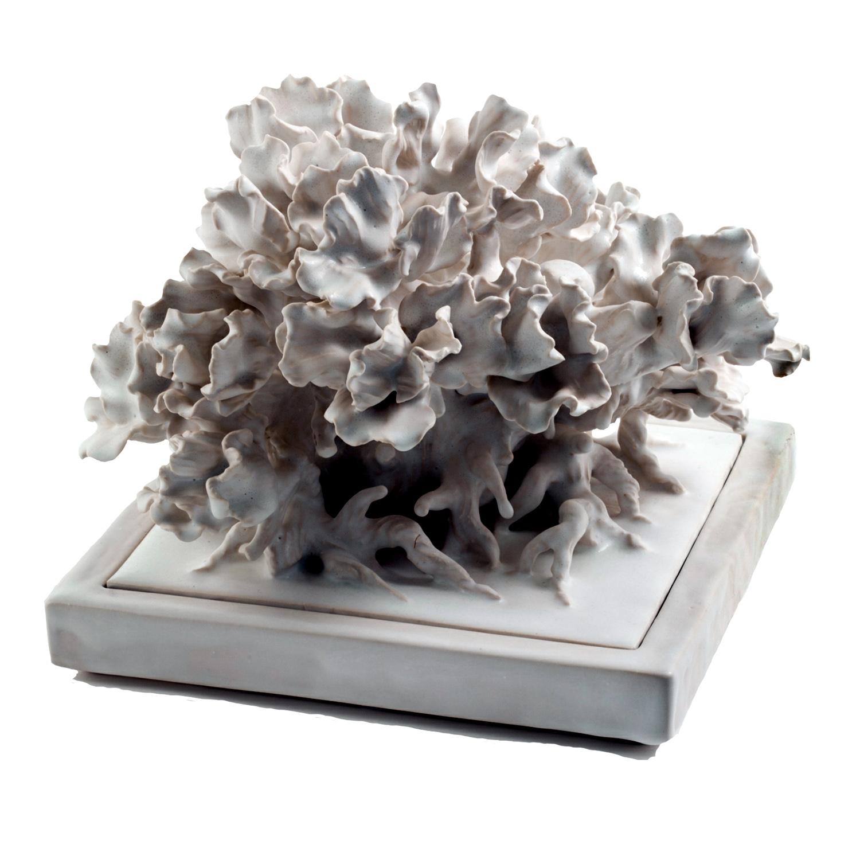 Square Porcelain Lidded Centerpiece