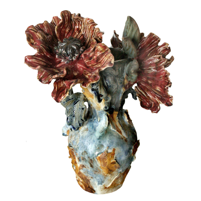 Poppies in a Peeling Vase